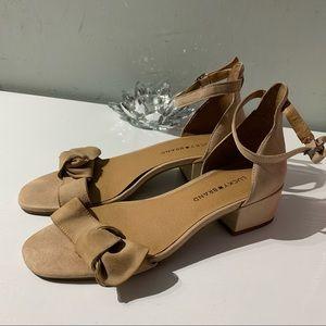 Lucky brand nude block heel sandals